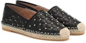 Valentino Rockstud Spike leather espadrilles