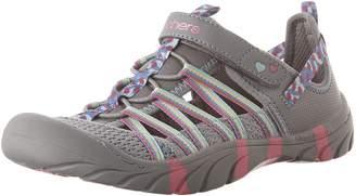 Skechers Girl's Summer Steps - Athletic Sandals, Grey/Hot Pink