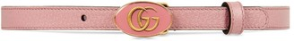 Gucci Leather belt with oval enameled buckle