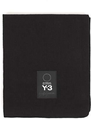 Y-3 Yohji Yamamoto Logo Patch Scarf