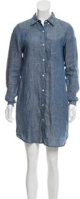 Steven Alan Linen Mini Long Sleeve Dress