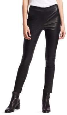 Rag & Bone Simone Slim-Fit Leather Cropped Pants