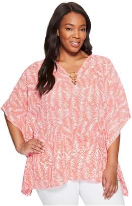 MICHAEL Michael Kors Size Pella Ring Flutter Top Women's Clothing