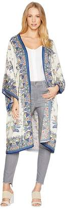 Angie Print Long Kimono Women's Clothing