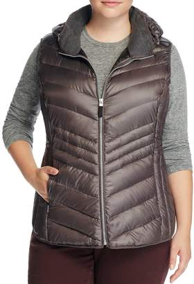 Andrew Marc Plus Ruby Hooded Puffer Vest