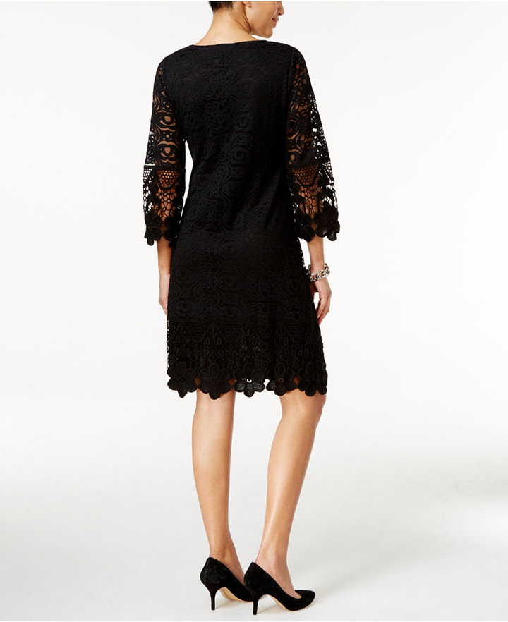 Alfani Crochet-Trim Illusion Dress, Only at Macy's 7