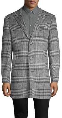 Tallia Glen Plaid Wool-Blend Coat