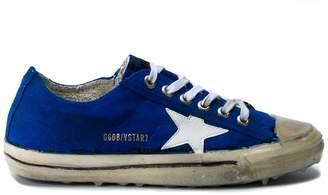 Golden Goose Blue V-Star 2 Suede sneakers
