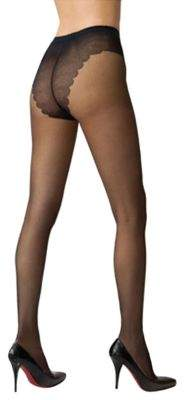 Hue French Lace Sheer Control Top Hosiery