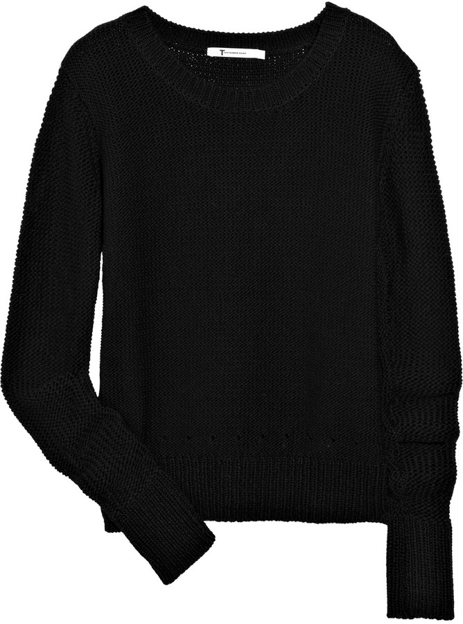 T by Alexander Wang Knitted cotton sweater