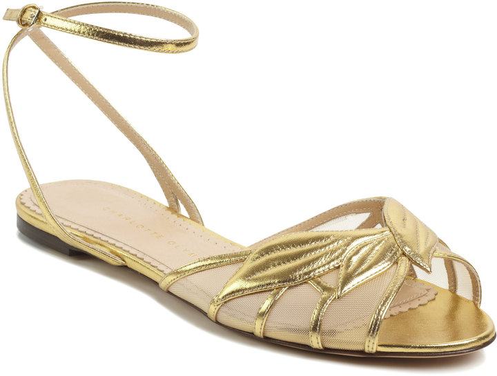 Charlotte Olympia Gold Edith Sandal
