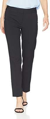 Nine West Women's Seersucker Skinny Lined Trouser Pant