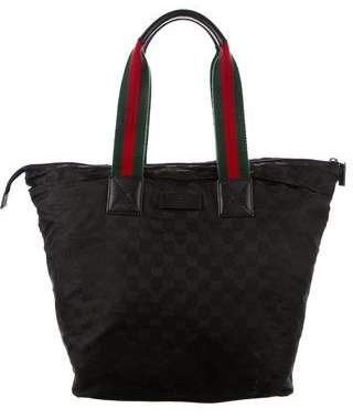 Gucci GG Canvas Large Web tote