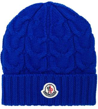 Moncler cable knit hat