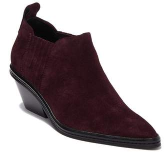 Via Spiga Farly Suede Pointy Toe Bootie