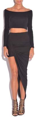 Blq Basiq Black Asymmetrical Skirt