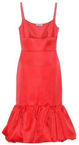 Prada Sleeveless wool and silk dress
