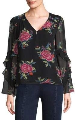 Nanette Lepore Margarita Floral-Print Top
