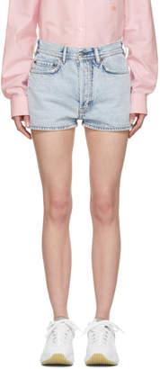Acne Studios Indigo Bla Konst Denim Ren Shorts