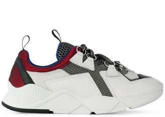Grey Mer futuristic platform sneakers