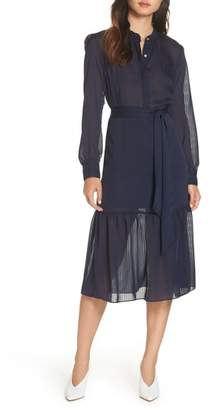 NSR Jasmine Striped Midi Dress