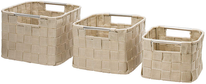 Beige Small Woven Basket Set