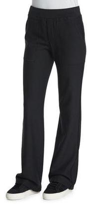 Helmut Lang Cotton Flare-Leg Sweatpants, Black $380 thestylecure.com