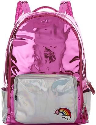 Bari Lynn Holographic Rainbow Backpack