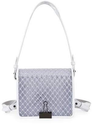 Off-White PVC Net Flap Crossbody Bag, White