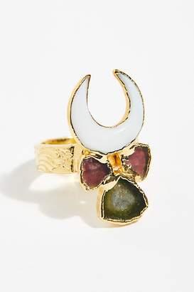 Lux Divine Ellaria Pearl Crescent Ring