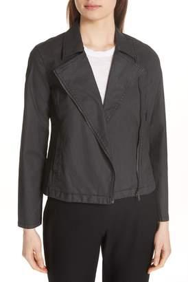 Eileen Fisher Stretch Organic Cotton Short Jacket (Regular & Petite)