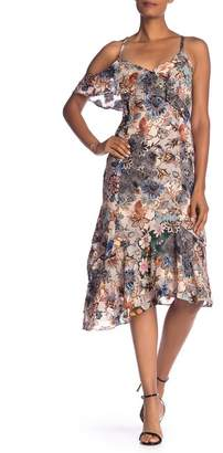 Rachel Roy Wonderlust Cold Shoulder Midi Dress