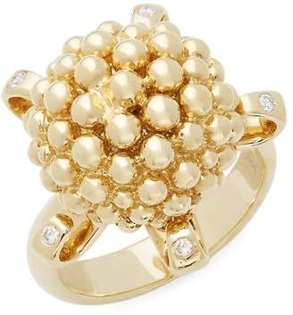 Temple St. Clair Women's Diamond and 18K Yellow Gold Statement Ring