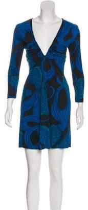 Mara Hoffman Silk Long Sleeve Mini Dress