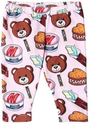 Moschino Ice Cream Bear Cotton Jersey Leggings