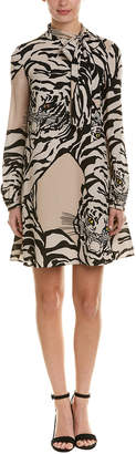 Valentino Tiger Silk Shift Dress