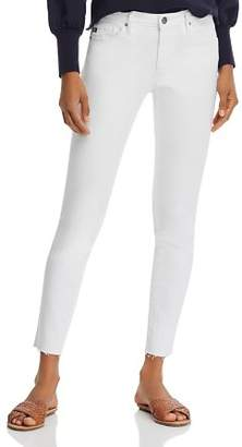 AG Jeans Ankle Legging Raw-Hem Jeans in White - 100% Exclusive