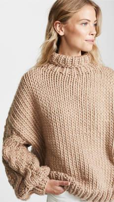 I Love Mr Mittens Diamond Sleeve High Neck Sweater