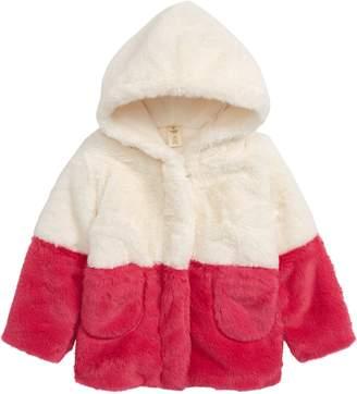 Tucker + Tate Colorblock Faux Fur Hooded Jacket