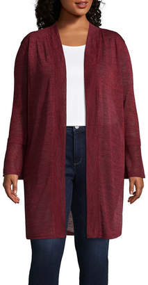 ST. JOHN'S BAY LS Longer Length Cardi - Plus