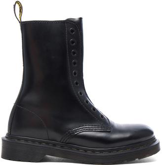 VETEMENTS x Dr. Martens Leather Borderline Boots $690 thestylecure.com