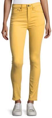 Rag & Bone High-Waist Skinny Ankle Jeans, Sun