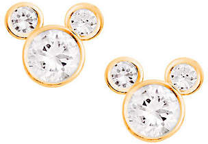 Disney Diamonique Mickey Mouse Stud Earrings, 14K Gold $59.90 thestylecure.com