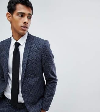 Noak Skinny Suit Jacket In Polka Dot Fleck