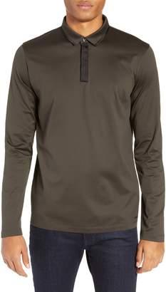 HUGO Dalendar Mercerized Cotton Slim Fit Polo Shirt