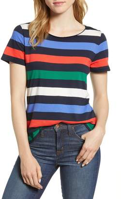 J.Crew Stripe Crewneck Supima(R) Cotton Tee
