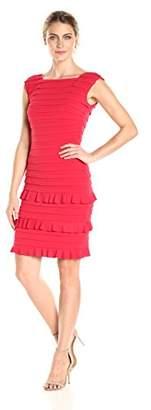 London Times Women's Strapless Lace Sheath Dress