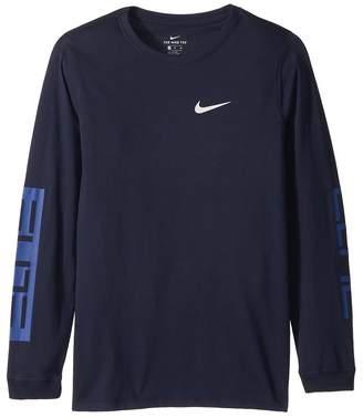 Nike Dry Elite Long Sleeve Basketball T-Shirt Boy's T Shirt