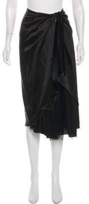 Max Mara Silk Knee-Length Skirt