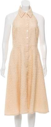 Michael Kors Eyelet Halter Dress